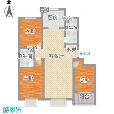 丽景中苑13.75㎡5#D户型3室2厅2卫1厨