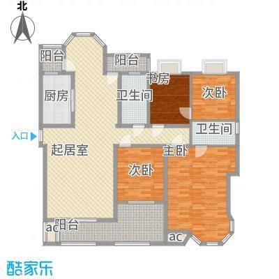 纳帕溪谷167.00㎡3期369#栋标准层B1户型4室2厅2卫1厨