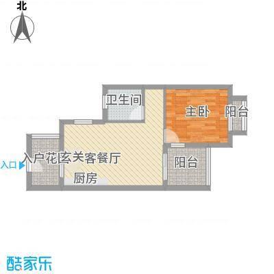 亚龙湾翡翠谷三期58.40㎡A户型1室2厅1卫1厨