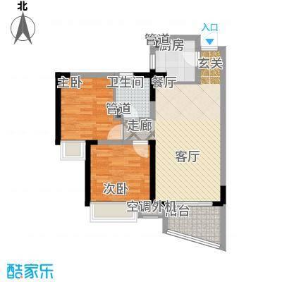 三亚・一山湖D户型2室2厅1卫1厨
