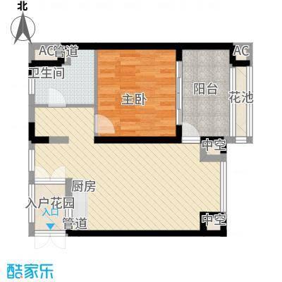 安富・雨林海71.00㎡B3户型1室1厅1卫1厨