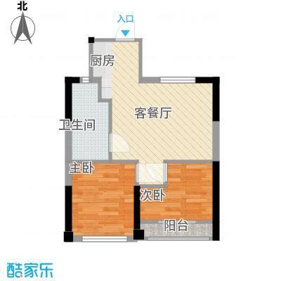 �海二期5B1户型2室2厅1卫