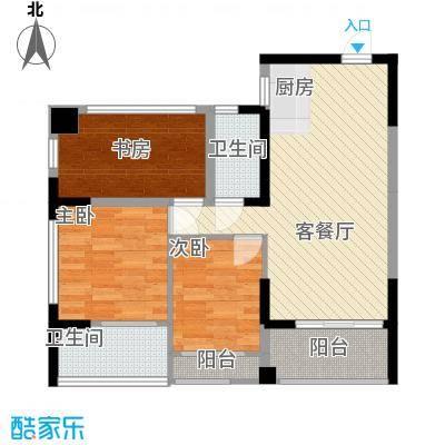 �海二期6号楼6A户型3室2厅2卫