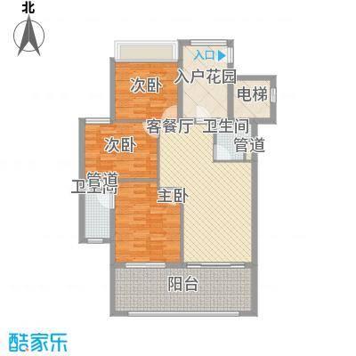 合景・汀澜海岸121.50㎡公寓Q户型3室2厅2卫1厨