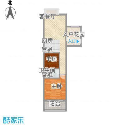 合景・汀澜海岸78.80㎡公寓S2户型2室2厅1卫1厨