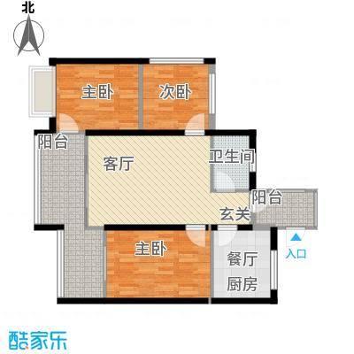 海南东方锦绣蓝湾6户型3室1厅1卫1厨