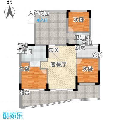 申亚・亚龙湾壹号公寓D户型3室1厅2卫1厨