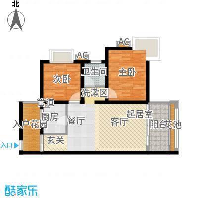 海南东方锦绣蓝湾83.70㎡B户型2室1厅1卫