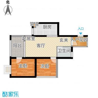 海南东方锦绣蓝湾7户型2室1厅1卫1厨