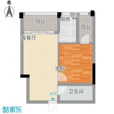大�海・半山壹�53.00㎡A7户型1室2厅1卫