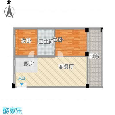 隆源神州半岛二期听涛苑L户型2室2厅1卫1厨