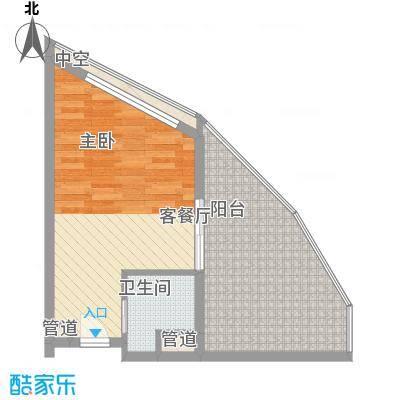 长岛蓝湾52.60㎡B户型1室1厅1卫1厨