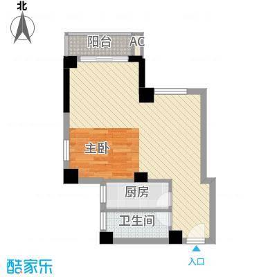 白马湾・滨海花园5.64㎡商业城01/05户型1室2厅1卫1厨