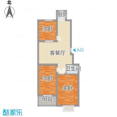 中和盛景8.15㎡(已售完)1号楼户型3室2厅1卫1厨