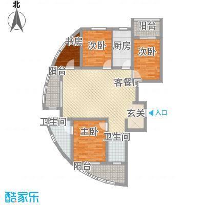 丽景名苑138.00㎡二期13、14号楼户型3室2厅2卫1厨