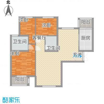文鼎轩11.58㎡四号A号型户型3室2厅2卫1厨