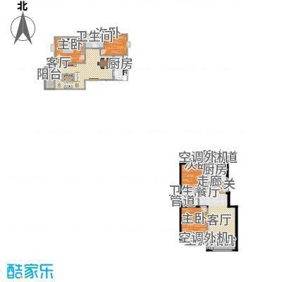 上海沙龙93.22㎡二室二厅一卫户型-副本
