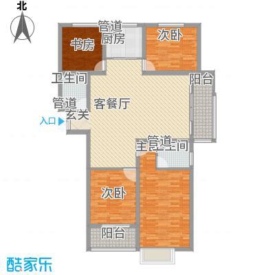 时代广场151.80㎡2#C3户型4室2厅2卫1厨