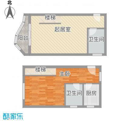 博鳌左岸88.82㎡听涛居A栋6跃层户型1室2厅1卫1厨