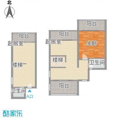 博鳌左岸147.10㎡观海寓B栋B5跃层户型1室2厅2卫1厨