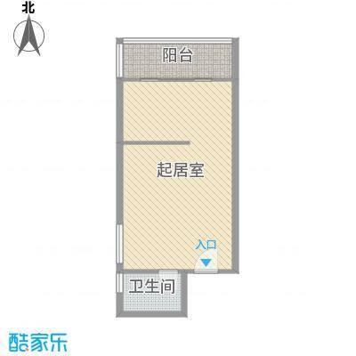 博鳌左岸64.66㎡观海寓B栋B1户型1室1厅1卫1厨