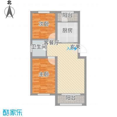 宜和园8.00㎡L户型2室1厅1卫1厨