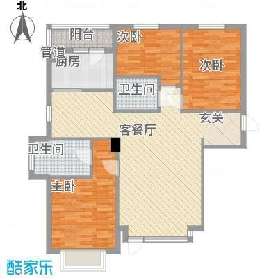 怡水湾12.00㎡D2户型3室2厅2卫1厨