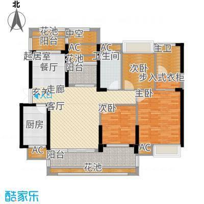 海湾1号125.00㎡7#8#A户型3室2厅2卫1厨