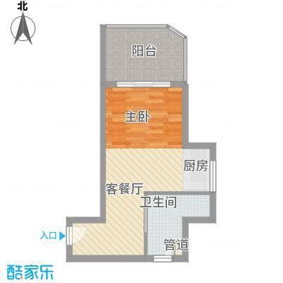 长岛蓝湾48.72㎡E户型1室1厅1卫1厨