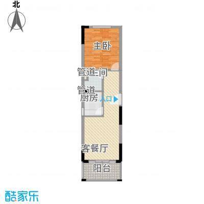 南天・凤凰城66.00㎡1107户型1室1厅1卫1厨