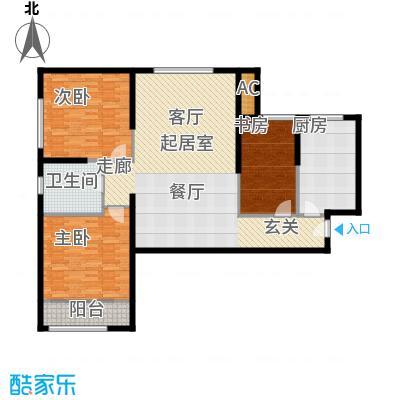 熙悦春天15.30㎡5#-7#楼H1户型3室2厅1卫1厨