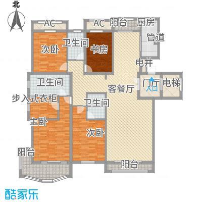 天玺香颂17.10㎡一期8号楼D-2户型4室2厅3卫1厨
