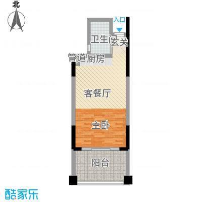 博鳌湾51.00㎡B户型1室1厅1卫1厨