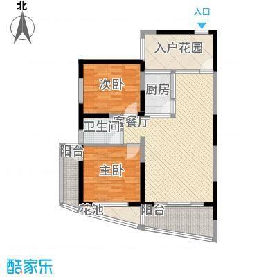波溪丽亚湾6.00㎡13、14、15#楼H1户型2室2厅1卫1厨