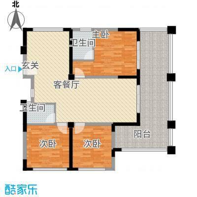 博鳌湾118.00㎡D户型3室2厅2卫1厨