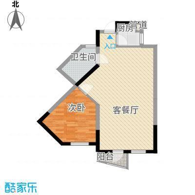 波溪丽亚湾72.00㎡5、6、7#楼E2户型2室2厅1卫1厨