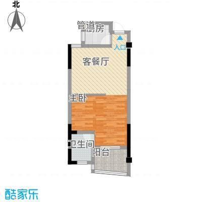 波溪丽亚湾57.00㎡5、6、7#楼C1/C2/C3/C4/C5户型1室1厅1卫