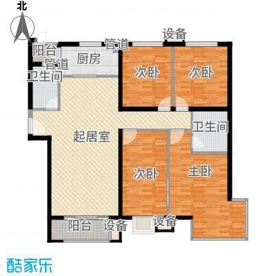 怡水花园三期403、404#楼204-1504户型4室2厅2卫1厨
