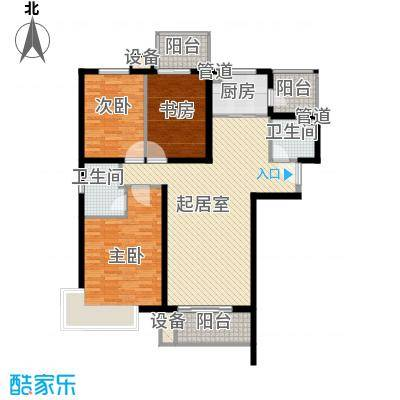 怡水花园三期403、404#楼301-1301户型3室2厅2卫1厨