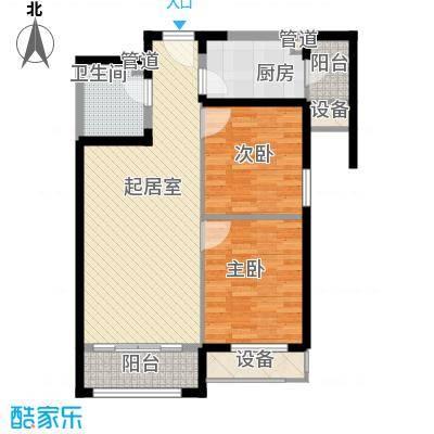怡水花园三期402、406#楼203-1505户型2室2厅1卫1厨