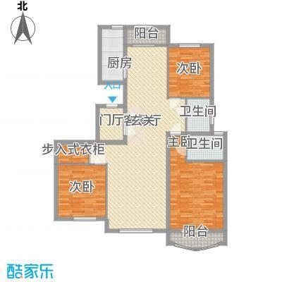 腾达公寓145.30㎡一期1号楼高层2户型3室2厅2卫1厨