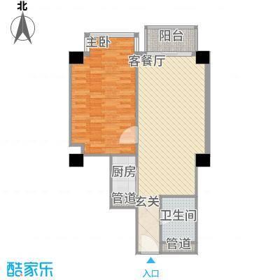 万勃温泉海景山庄83.55㎡B户型1室2厅1卫1厨