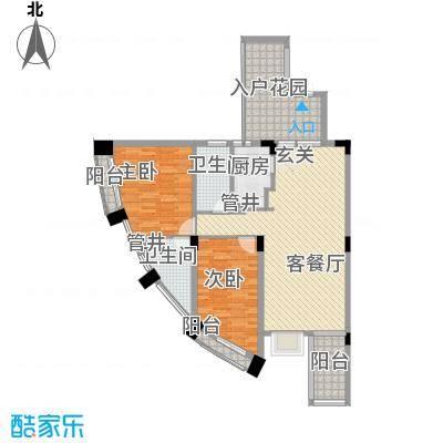 瀛寰花园128.77㎡户型