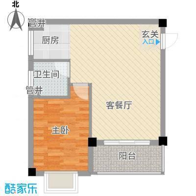 文罗山庄54.88㎡1栋户型1室2厅