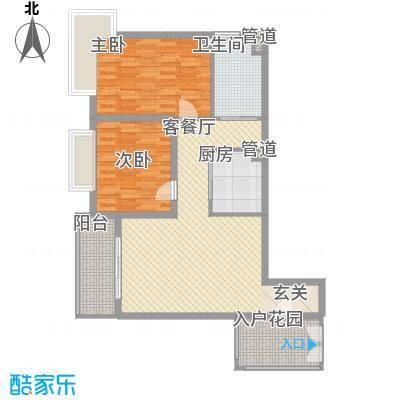 三亚新浪国际公馆85.52㎡户型