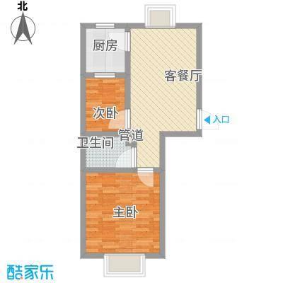 海韵阳光城44户型2室1厅1卫1厨