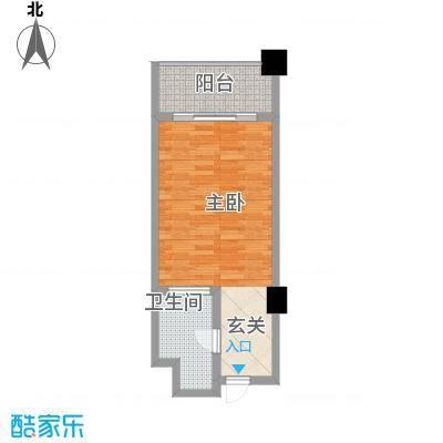 国际公寓52.52㎡双人标准间2户型1室1卫