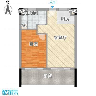 柏瑞精品海景酒店65.00㎡户型1室2厅1卫1厨