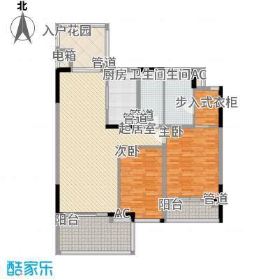 椰海福湾124.48㎡公寓-雍海户型2室2厅1卫