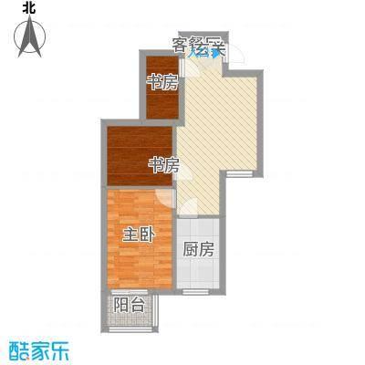 文鼎轩63.20㎡四号楼F号型户型2室2厅1卫1厨